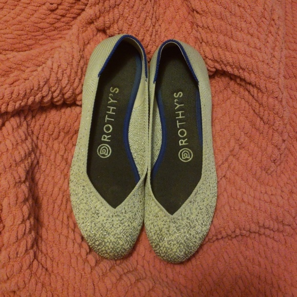 d48794b768c44 rothys Shoes | Retired Metallic Grey Flats Euc | Poshmark